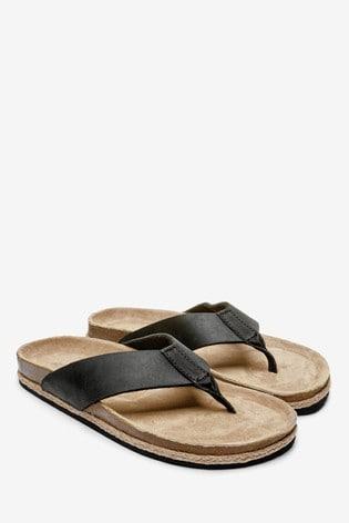 Buy Jute Toe Post Flip Flops from Next USA