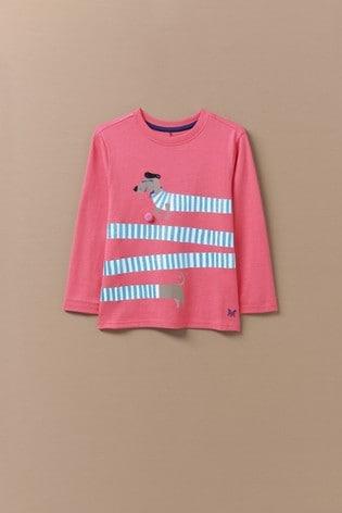 Crew Clothing Long Sleeve Printed Lola Stripe T-Shirt