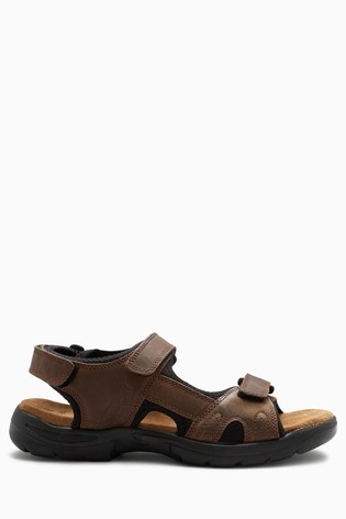 Brown Leather Trek Sandals