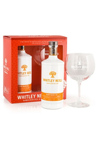 70cl Blood Orange Gin And Glass Gift Set by Whitley Neill