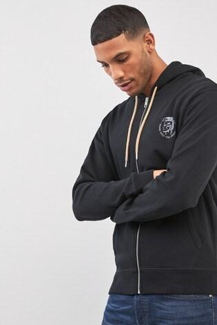 Diesel® Zip Through Logo Hoody