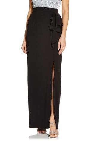 Adrianna Papell Knit Crepe Cascade Skirt