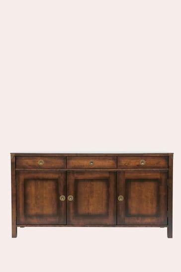 Balmoral Dark Chestnut 3 Door 3 Drawer Sideboard by Laura Ashley