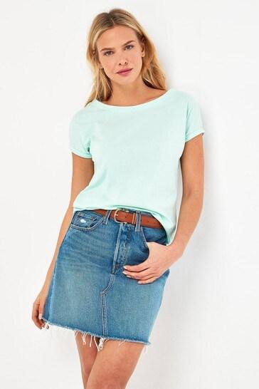 Aqua Cap Sleeve T-Shirt