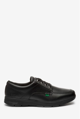 Kickers® Black Kelland Lace Lo Leather Shoes