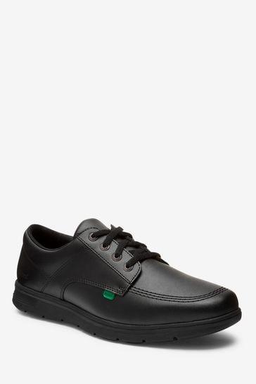 Kickers® Black Kelland Lace Lo Leather Shoes