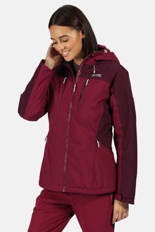 Regatta Purple Womens Highton Stretch Padded Waterproof Jacket