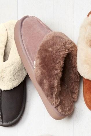 Mink Suede Mule Slippers