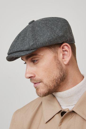 Grey Christys' London Baker Boy Hat