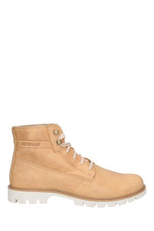 CAT® Lifestyle Brown Basis Lace-Up Boots