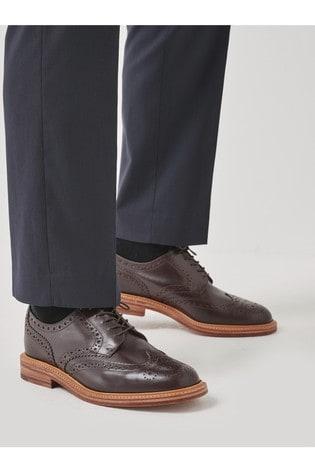 Dark Brown Sanders For Next Brogue Shoe