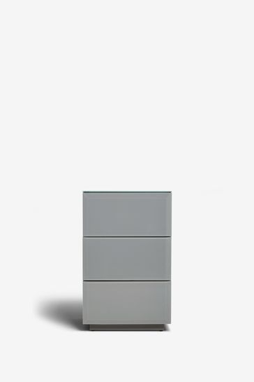 Sloane Collection Luxe 3 Drawer Bedside Table