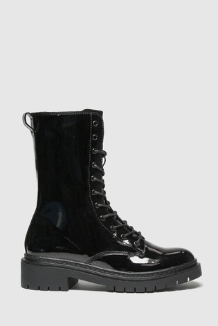 Schuh Black Aaron High Cut Lace-Up Shoes