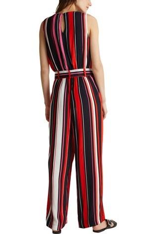 Esprit Black Wrap Side Pattern Jumpsuit
