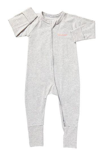 Bonds Grey Stripe Zip Wondersuit