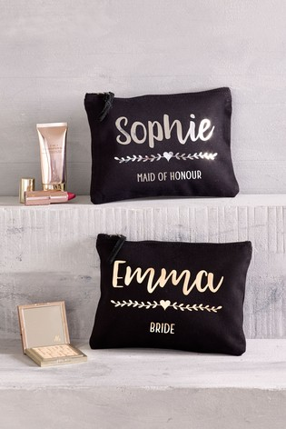 Personalised Small Wedding Make-Up Bag by Loveabode