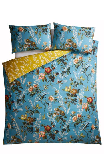 Oasis Leighton Floral Cotton Duvet Cover and Pillowcase Set