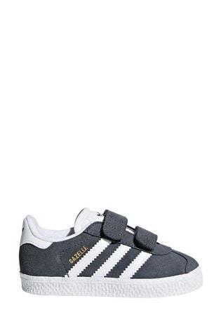 adidas Originals Grey/White Gazelle Infant Trainers