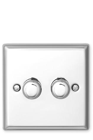 Double Halogen Dimmer Light Switch