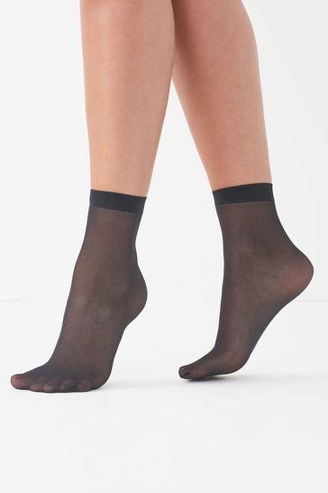 Black Ankle Socks Five Pack