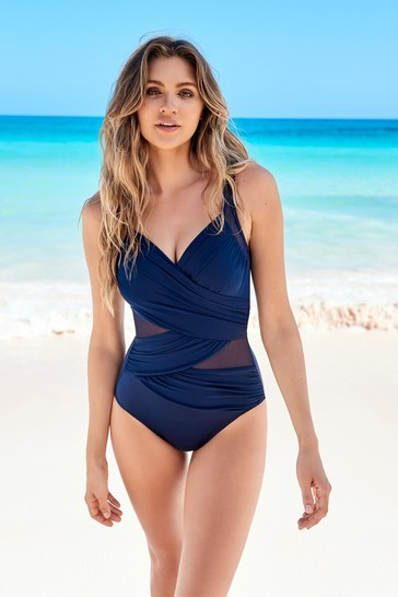 Miraclesuit Navy Madero Swimsuit