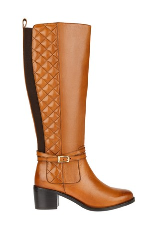 Monsoon Tan Long Leather Riding Boots