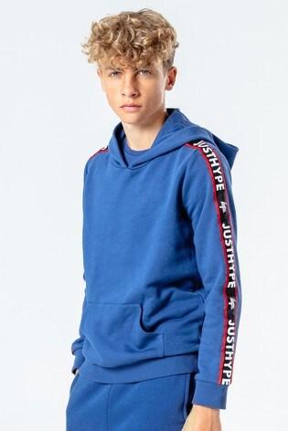 Hype. Kids Blue JH Tape Pullover Hoody