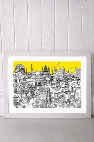 London Jungle Framed Print by East End Prints