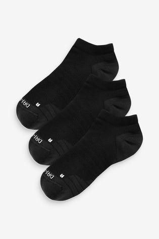 Nike Adult Black Trainer Socks Three Pack