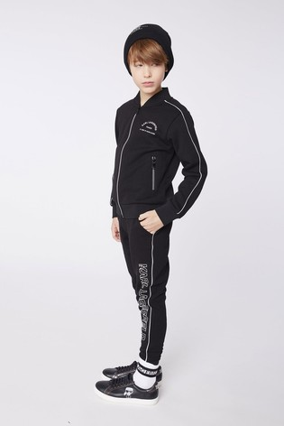 Karl Lagerfeld Black Side Logo Joggers