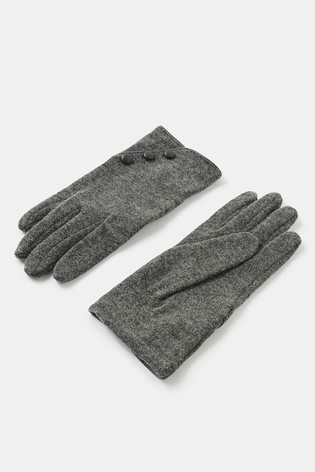 Accessorize Wool Gloves With Buttons