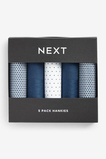 Blue Handkerchiefs Five Pack