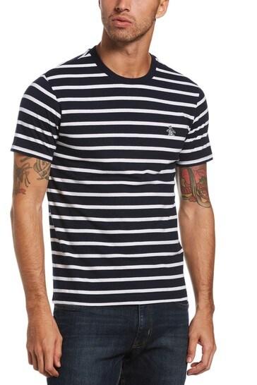 Original Penguin® Blue Breton Stripe T-Shirt