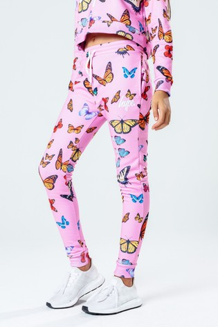 Hype. Kids Pink Butterfly Joggers