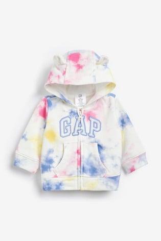 Gap Baby Tie Dye Logo Hoodie with Ears