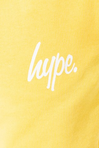 Hype. Yellow Hype Script Kids Joggers