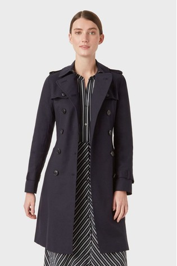 Hobbs Blue Saskia Trench Coat