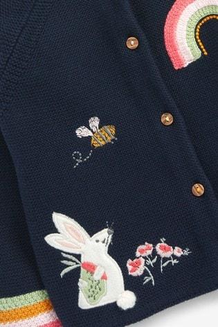 Navy Bunny Character Cardigan (3mths-7yrs)