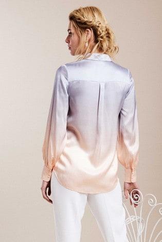 Pure Collection Pink Silk Satin Shirt