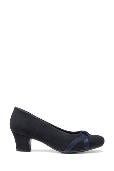 Hotter Blue Georgia Wide Fit Slip-On Court Shoes