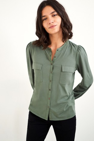 White Stuff Green Fenella Shirt