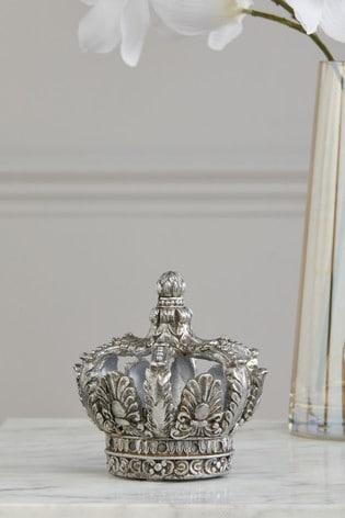 Silver Crown Ornament