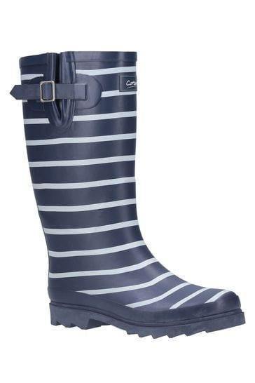 Cotswold Blue Sailor Wellington Boots