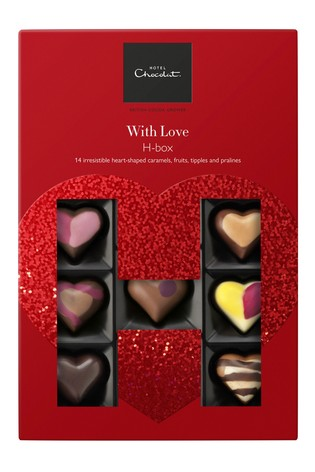 With Love Valentine's Day H Box by Hotel Chocolat