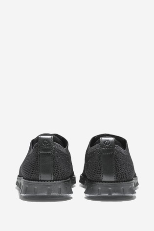 Cole Haan Black Zerogrand Knit Oxford Shoes