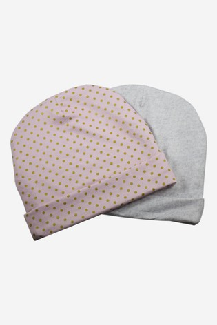 aden + anais Gold Dots Baby Hats Two Pack Gift Set