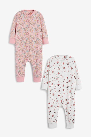 Floral 2 Pack Jersey All-In-One With Poppers (9mths-8yrs)