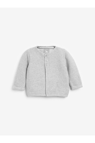 The Little Tailor Grey Cotton Cardigan