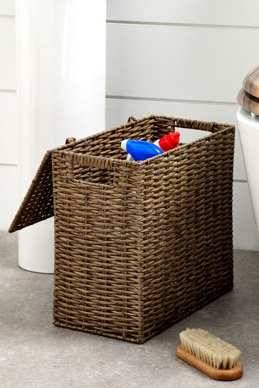 Slimline Woven Storage Basket
