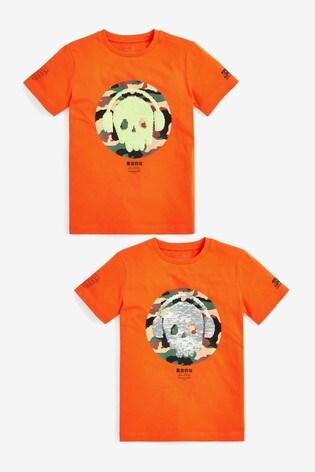 Orange Flippy Sequin T-Shirt (3-16yrs)